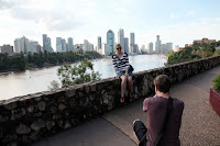 View of the city from Kangaroo Point cliffs