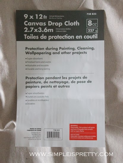 9 x 12 Canvas Drop Cloth