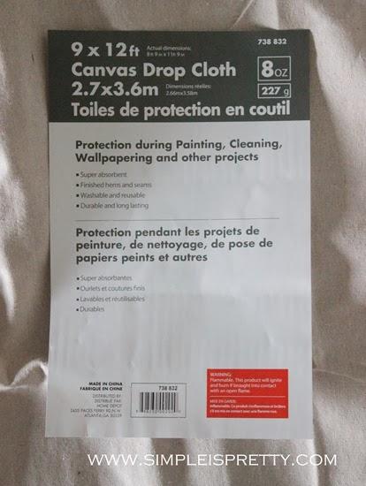 9 x 12 Canvas Drop Cloth