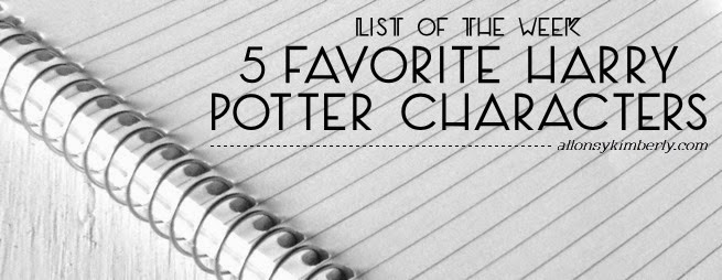 5 Favorite Harry Potter Characters | allonsykimberly.com