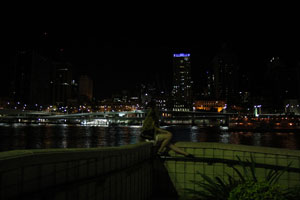 Bronwen & Brisbane City during Earth Hour