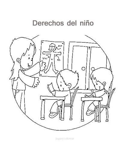 Dibujo para iluminar derechos de los niños - Imagui
