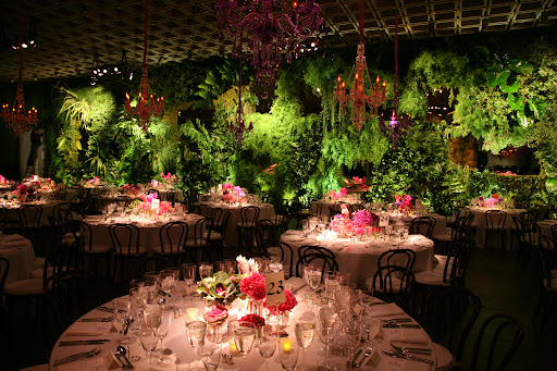 Here, Bronson created a stunning vertical garden for the Whitney Gala.