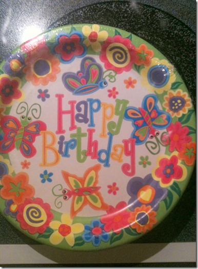 Hartley's 1st Bday Plates