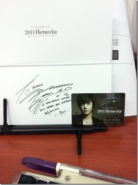 henecia member card 2