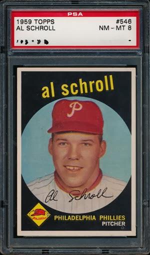 1959 Topps 546 Al Schroll