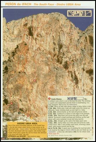 Peon de Ifach - Sur - Costa Blanca 250m 6c  (6b A0 Oblig) (RockFax)