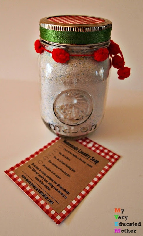 LaundrySoapGiftJar #DIY #soaprecipes #masonjarcrafts