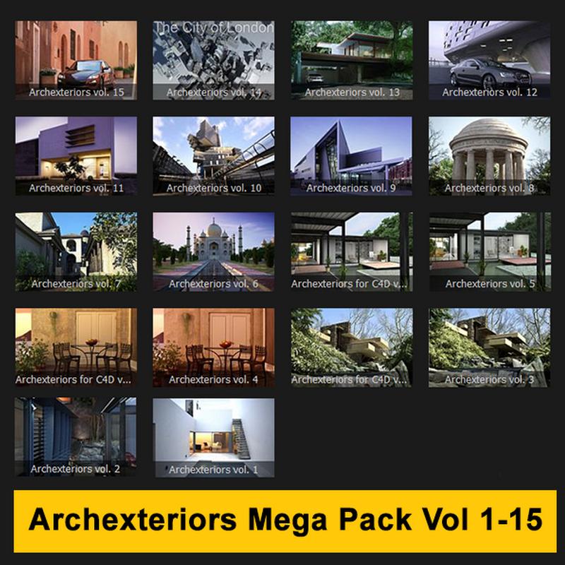 Archexteriors Mega Full Pack Vol 1-15 (Max & Vray)