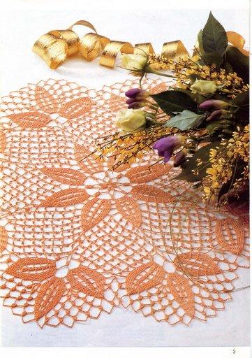 Вязание крючком салфетки занавески скатерти