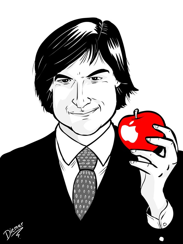 steve jobs by diemer