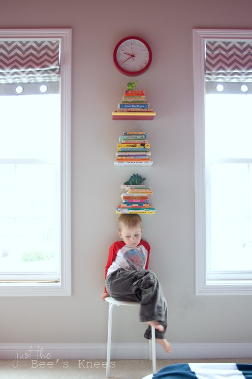 Invisible shelves for kids room
