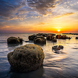 Sun Sea by Jon Khoo - Landscapes Sunsets & Sunrises