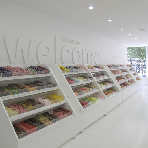 The long row of pick n' mix in all it's glory.