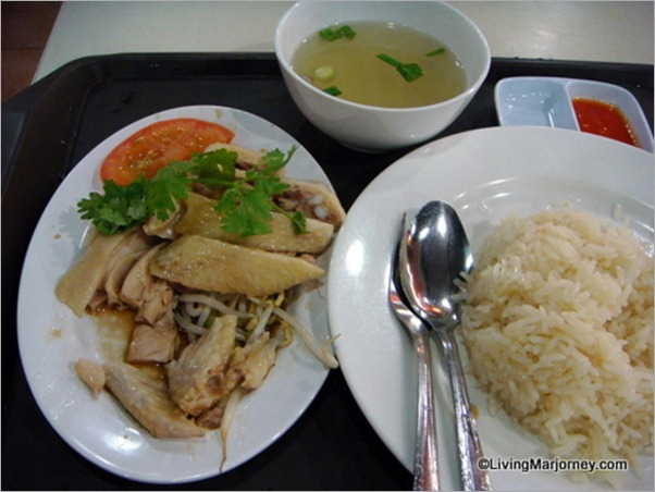 Food Court in Singapore selling Chicken Rice