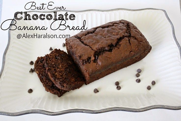 This Chocolate Banana Bread looks scrumptious! Recipe from Alex Haralson