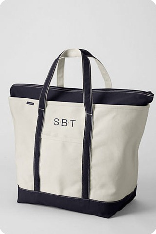 fav things lands end large canvas bag