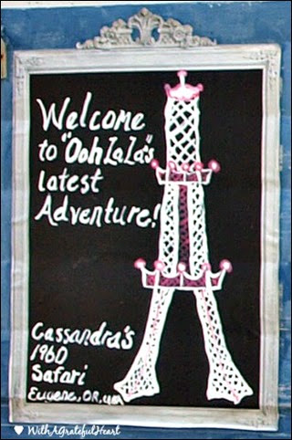 Cassandra's Trailer Sign