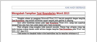 Text Boundaries