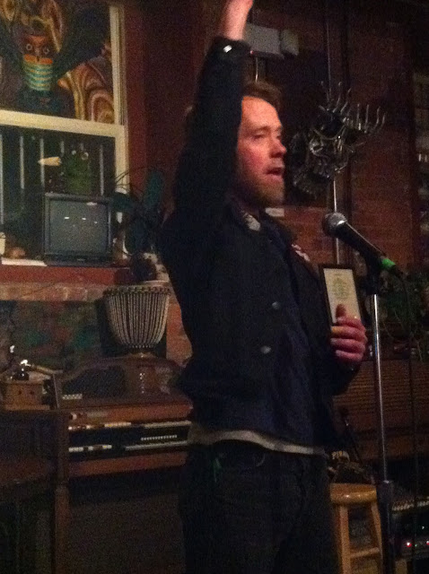 "Jared Paul at the Hudson River Coffee House for his ""Occupy Poetry Month"" Tour"