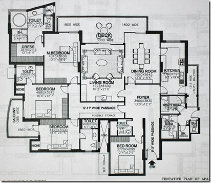 Clients floor plan