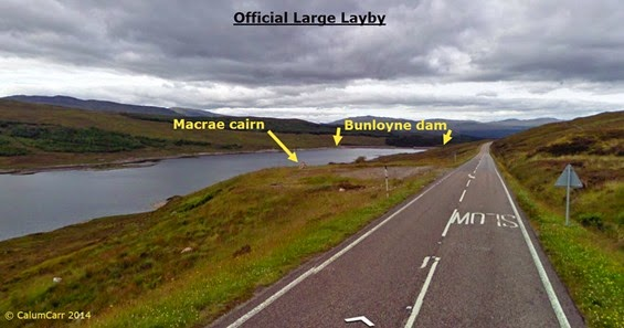 Official large layby and cairn