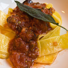 Pappardelle With Chicken Livers & Onions