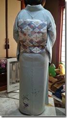素敵なプルーの着物 (1)