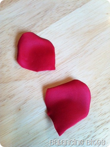 How to make gum paste rose petals 2