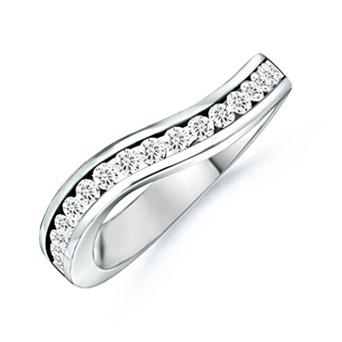 Round Diamond WOW Wedding Band