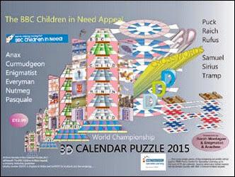 3D Calender Puzzle 2015