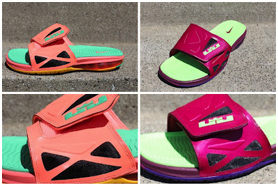 LeBron3 New Raspberry & Mango Nike Air LeBron 2 Elite Slides