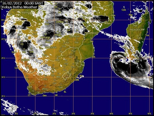 SouthAfrica Satellite View Weather EuymetsatFeb142012