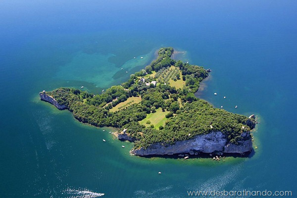 Insel Bisentina im Lago di Bolsena, Italien