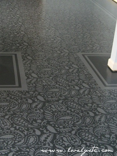 stencilled floor