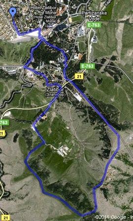 ruta del día, Zlatibor