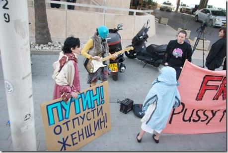 Пикет в поддержку Pussy Riot
