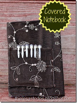 Covered Notebook With Pen Pocket