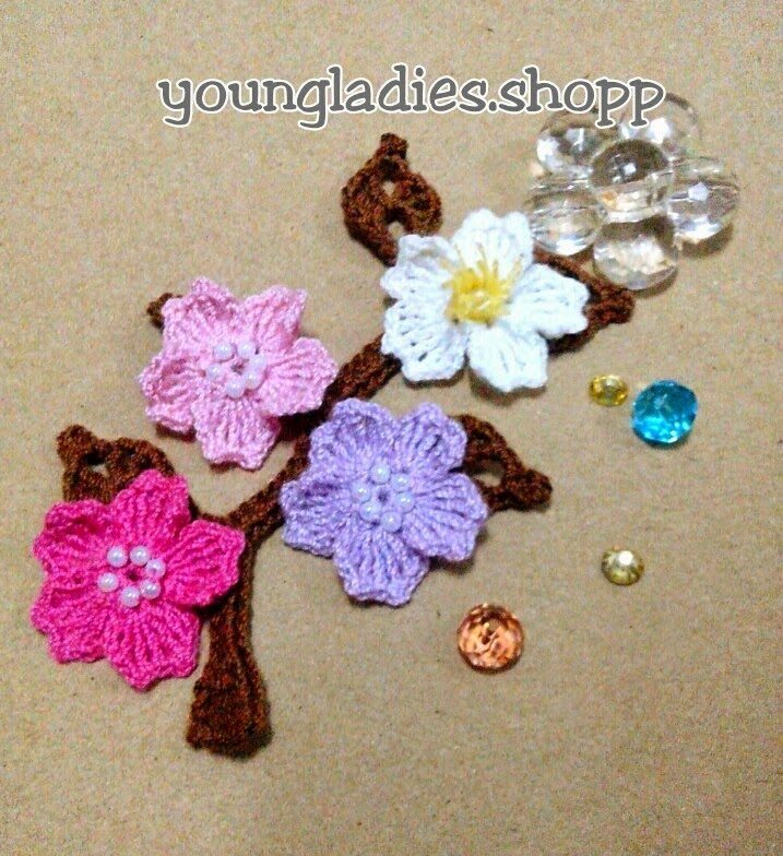 Youngladieshome Cherry Blossom Crochet Pattern