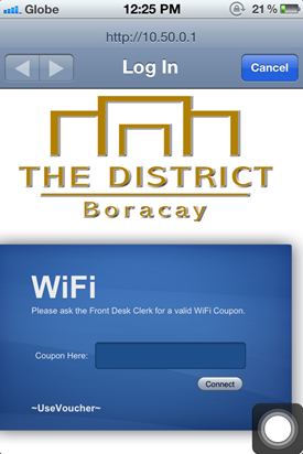 The District Boracay WiFi