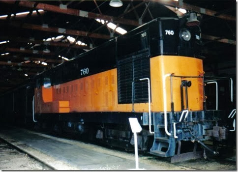 Milwaukee Road H10-44 #760 at the Illinois Railway Museum on May 23, 2004