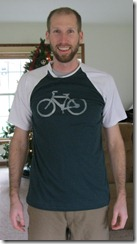 Bike T-Shirt with freezer paper stenciling