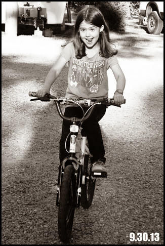 silly face on bike