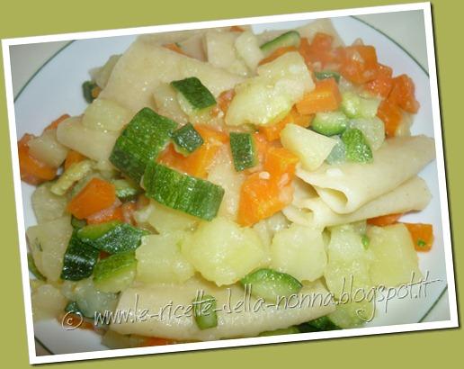 Le Ricette della Nonna: Paccheri tricolore con patate, carote e zucchine