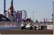 Rosberg nelle prove libere del gran premio di Russia 2014