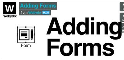 webydo adding forms