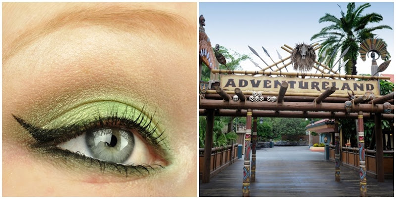 walt disney world magic kingdom adventureland inspired makeup