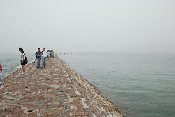 Qingdao - Plage N2 - La jetée dans la mer