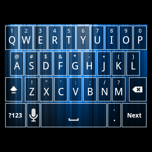 Blue Mix Keyboard Skin LOGO-APP點子