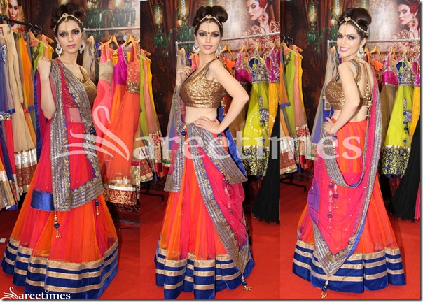 Pink_Orange_Lehenga